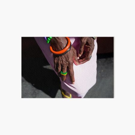 Wrinkled Hands | Colour Travel Photography Art Board Print