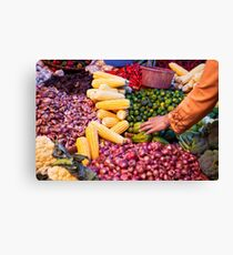 Vegetable and Fruit Market | Colour Travel Photography Canvas Print
