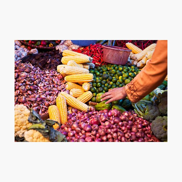 Vegetable and Fruit Market | Colour Travel Photography Photographic Print
