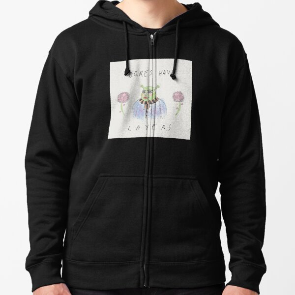 ogres have layers! Zipped Hoodie