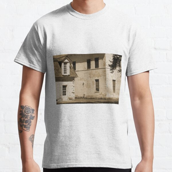 Quarters and Hospital at Fort Stanton New Mexico in Sepia Classic T-Shirt