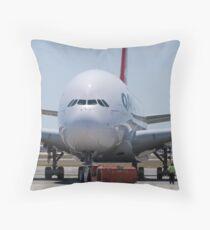 Qantas A380 Throw Pillow
