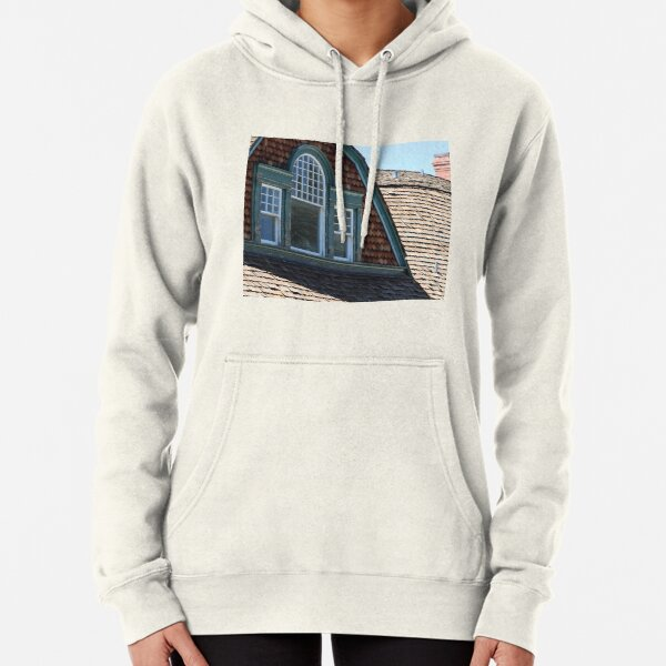 Attic Windows in Quarters at Fort Stanton New Mexico Pullover Hoodie