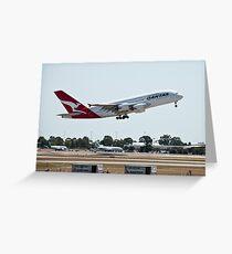 Qantas A380 Greeting Card