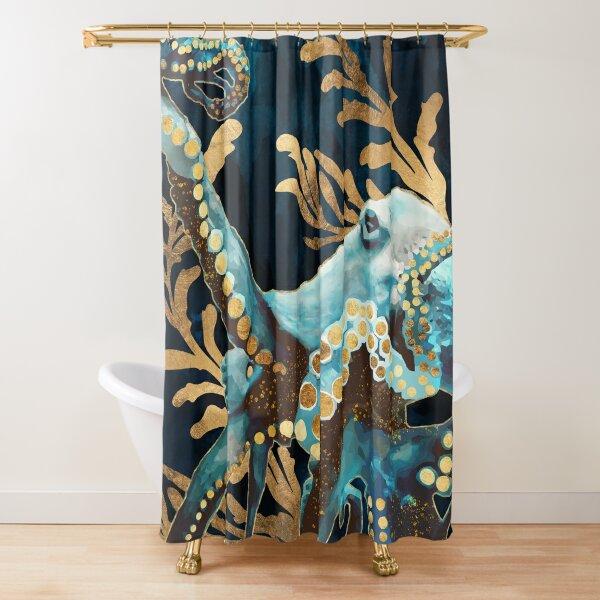 Indigo Octopus Shower Curtain
