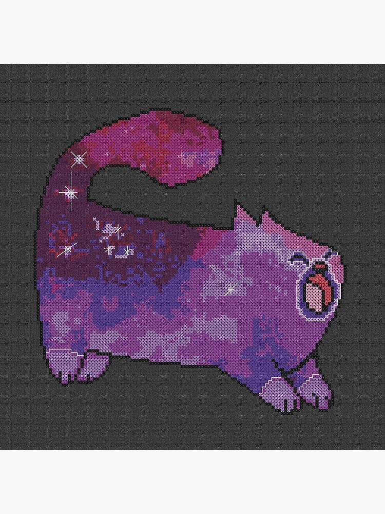 Cross Stitch Style Galaxy Cat by evenstarhancock