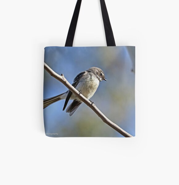 Grey Fantail (021) All Over Print Tote Bag
