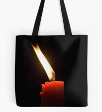 Red Candle Tote Bag