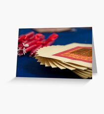 Paper Money and Candles Greeting Card