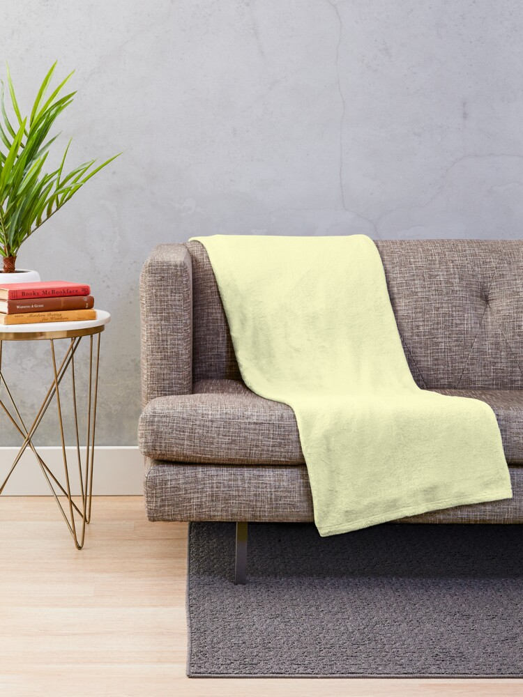 Pale Yellow Throw Blanket.Cheap Solid Pale Yellow Cream Color Throw Blanket
