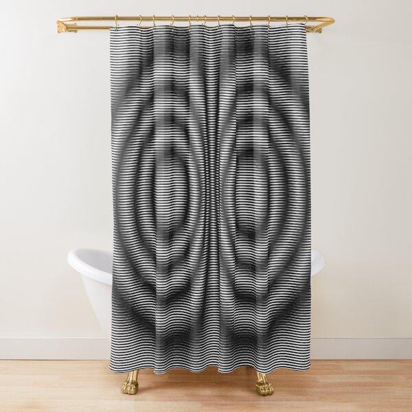 #Monochrome #Illusion Shower Curtain