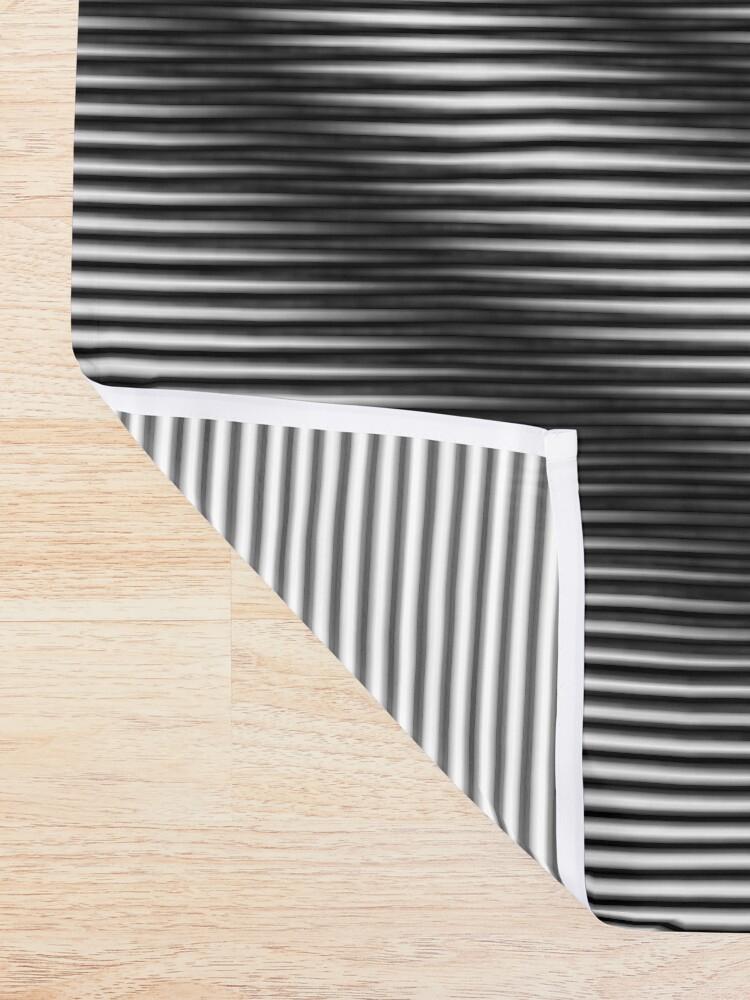 Alternate view of #Monochrome #Illusion Shower Curtain