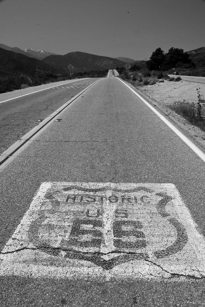 Route 66 ribbon - San Bernardino, CA by Harv Churchill