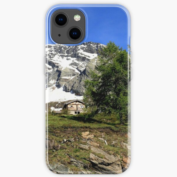 Montain in the Simplon Pass  iPhone Soft Case
