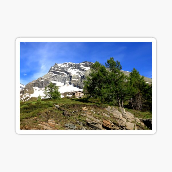Montain in the Simplon Pass  Sticker