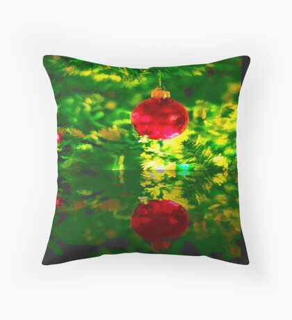 Happy Holiday Card Throw Pillow