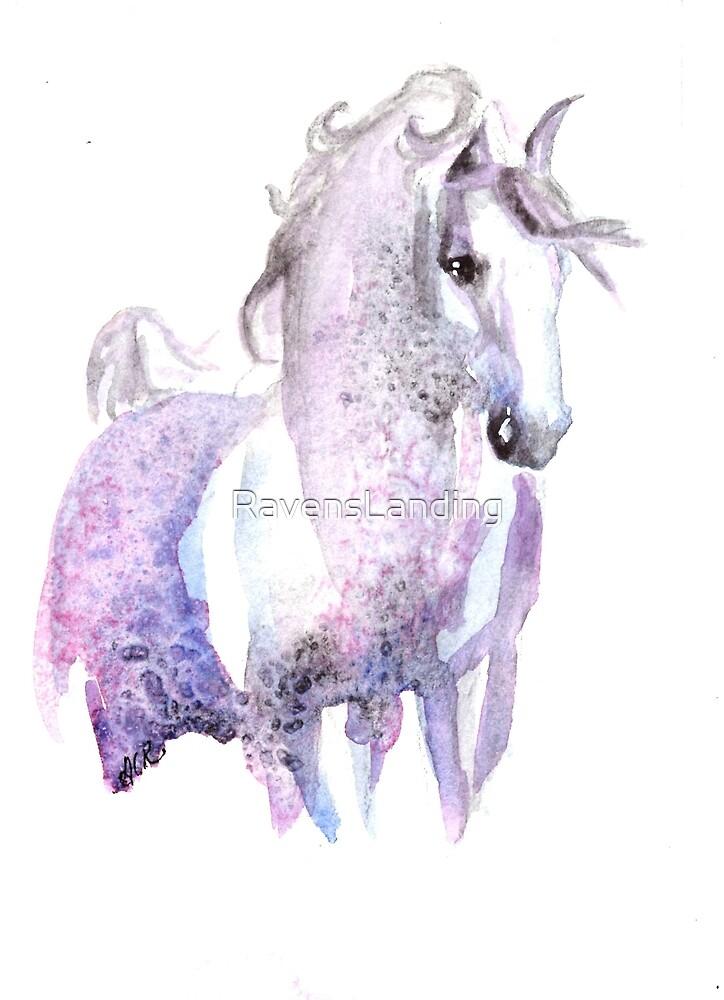 Dappled Arabian Horse in Amethyst by RavensLanding