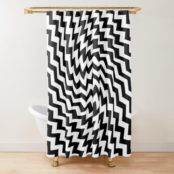 #Diagonal #Zigzag #Pattern #DiagonalZigzagPattern Shower Curtain