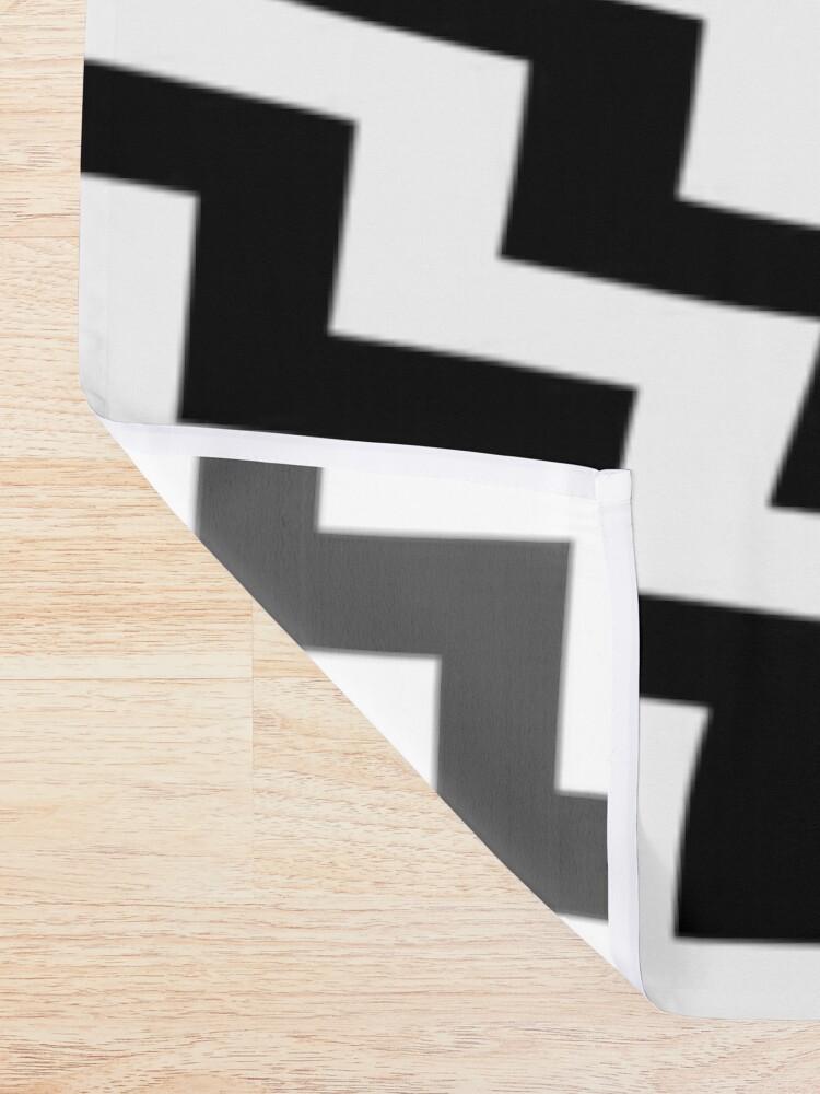 Alternate view of #Diagonal #Zigzag #Pattern #DiagonalZigzagPattern Shower Curtain