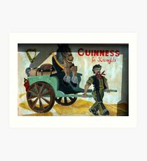 strong stuff this Guiness Art Print