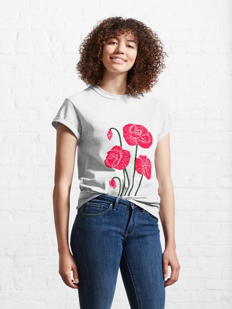 Alternate view of Poppy delight Classic T-Shirt