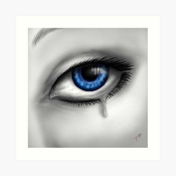 Blue Eyes Cry Art Print