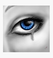 Blue Eyes Cry Photographic Print