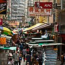 Hong Kong marketplace by Terry Mooney