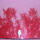 Street Rod Art: Red Trees by Karen K Smith