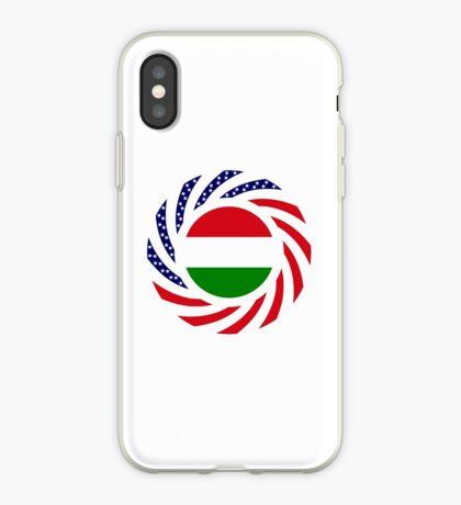 Hungarian American Multinational Patriot Flag Series iPhone Case
