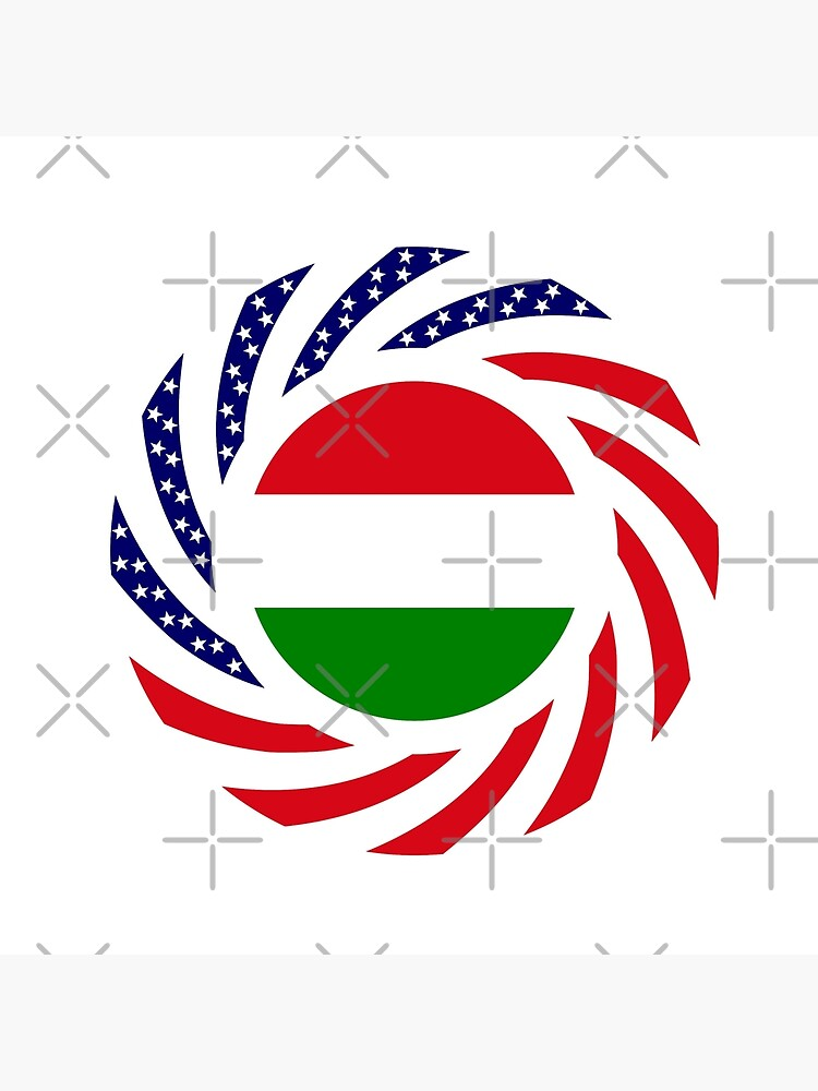 Hungarian American Multinational Patriot Flag Series by carbonfibreme