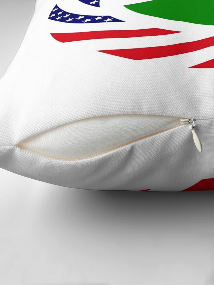 Alternate view of Hungarian American Multinational Patriot Flag Series Throw Pillow
