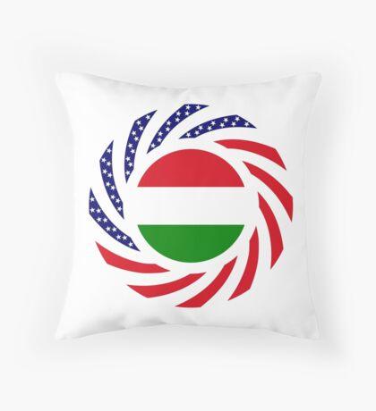 Hungarian American Multinational Patriot Flag Series Throw Pillow