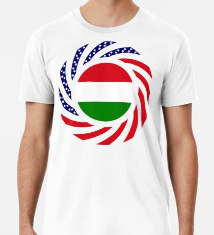 Hungarian American Multinational Patriot Flag Series Premium T-Shirt