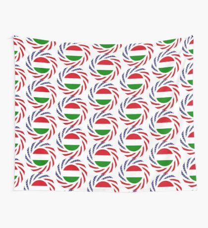 Hungarian American Multinational Patriot Flag Series Wall Tapestry