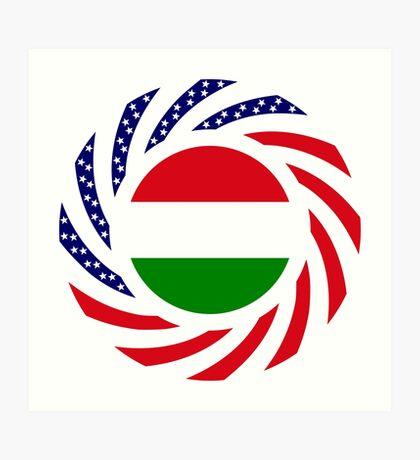 Hungarian American Multinational Patriot Flag Series Art Print