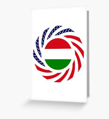 Hungarian American Multinational Patriot Flag Series Greeting Card