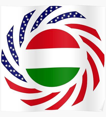 Hungarian American Multinational Patriot Flag Series Poster