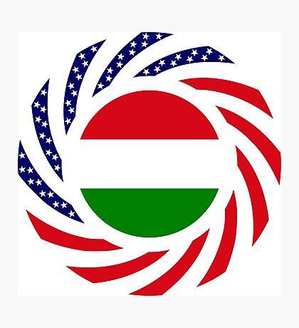 Hungarian American Multinational Patriot Flag Series Photographic Print