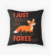 I Just Really Like Foxes Ok? Bodenkissen