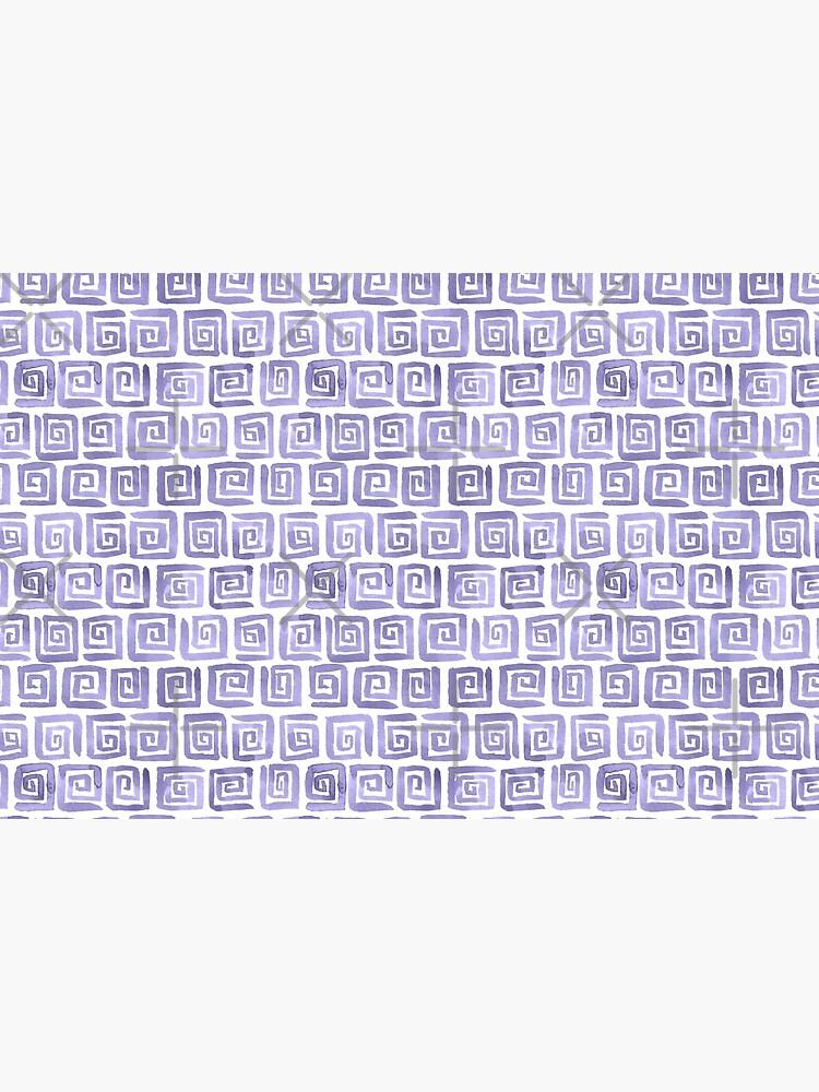 Watercolor Greek Key Pattern - Lilac by annieparsons