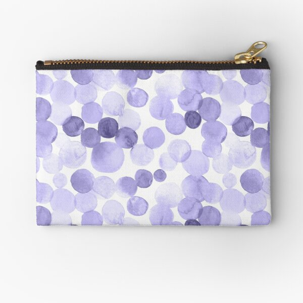 Watercolor Circles - Lilac Zipper Pouch