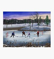 Pond Hockey Photographic Print