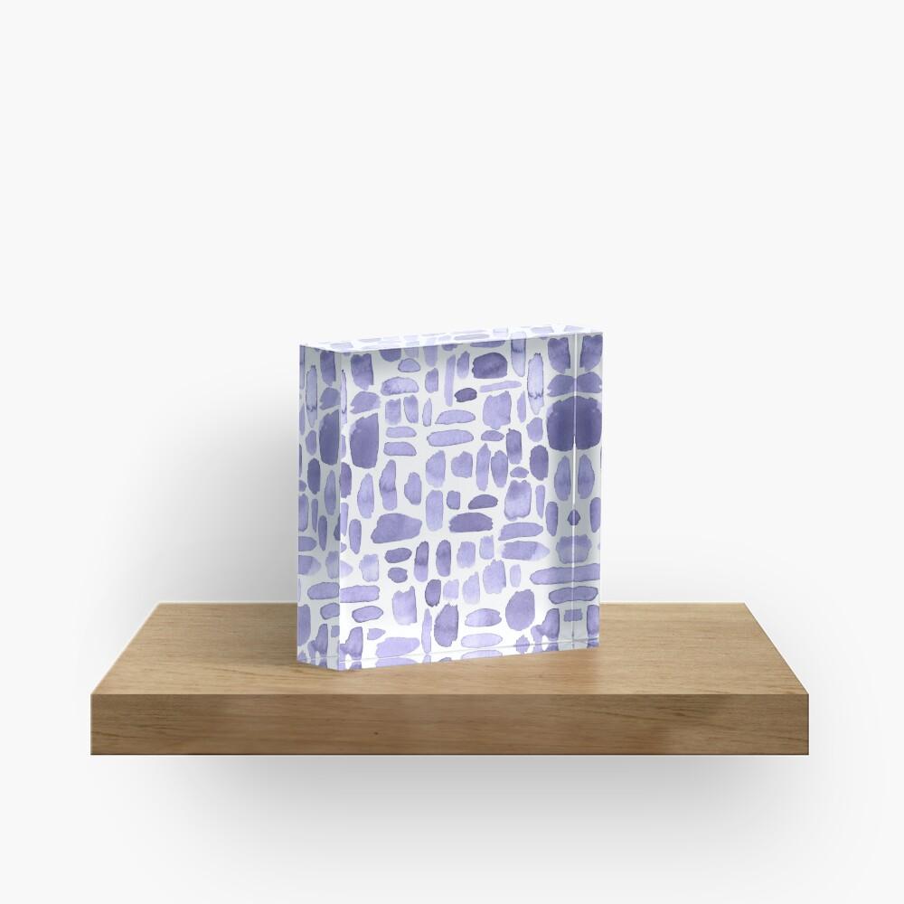 Watercolor Paint Brush Stroke Pattern - Lilac Acrylic Block