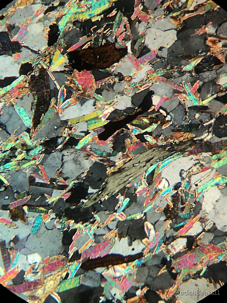 Mica Schist thin section by RedishBeaks11