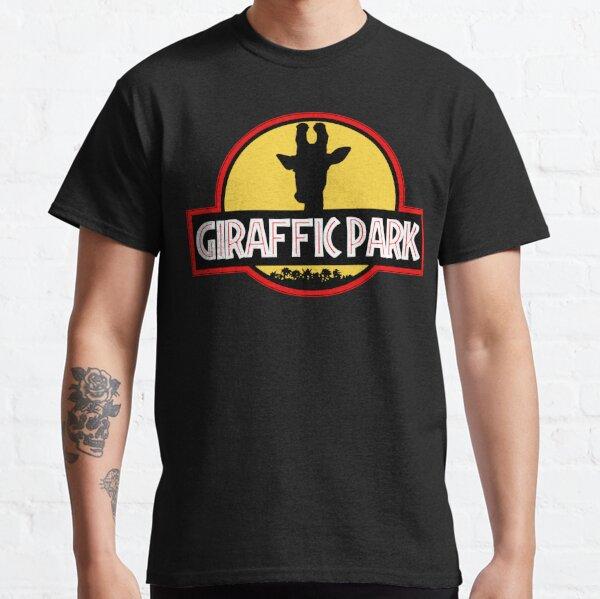 Giraffic Park Jurassic Park Movie Spoof Classic T-Shirt