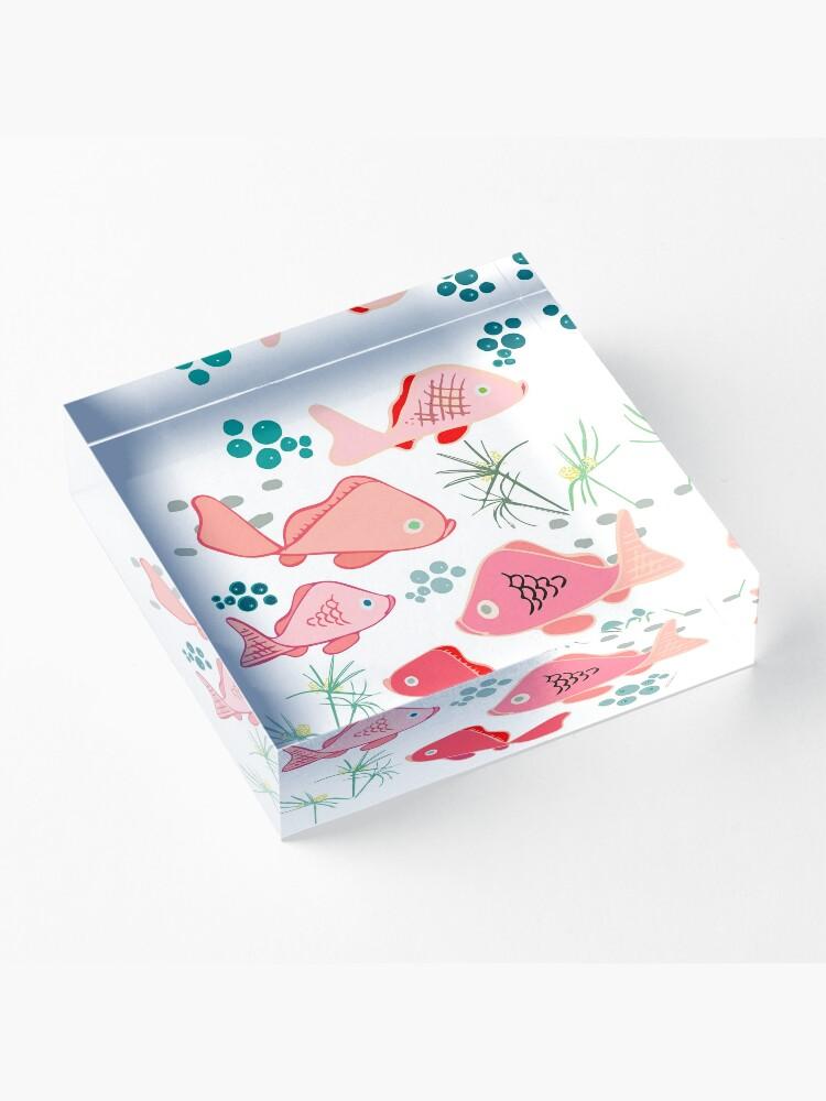 Alternate view of Origami Koi Fish Acrylic Block