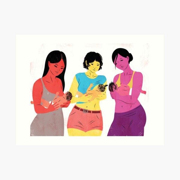 Breastfeeding can be a group actviity Art Print