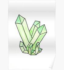 Green Crystal Cluster Poster