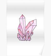 Pink Crystal Cluster Poster